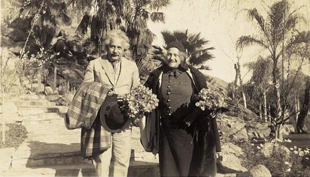 Albert Einstein and Elsa Einstein