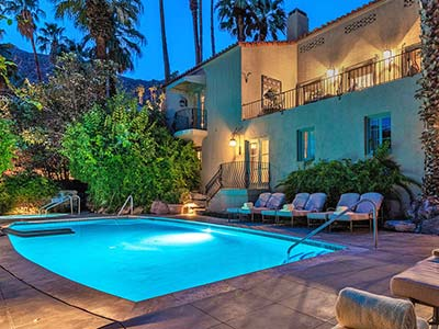 The Historic WIllows Inn Palm Springs California
